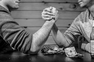 arm wrestling money